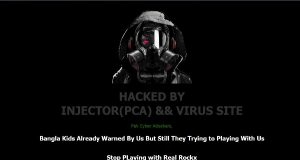 Screenshot of a Hacked Website