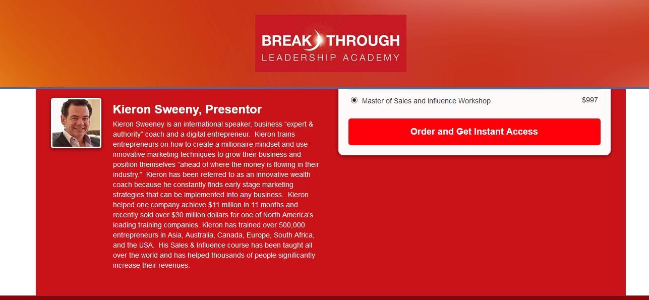 Kieron Sweeney: Breakthrough EntrepreneuR
