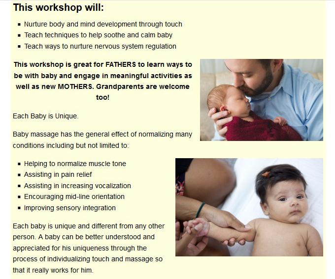 BC Baby Massage